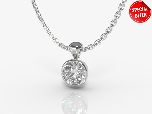 Certified Round Diamond Pendant