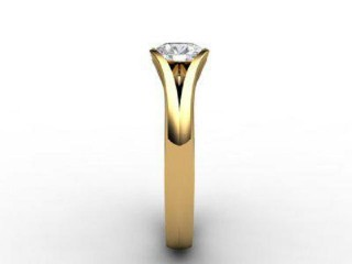 Certificated Round Diamond Solitaire Engagement Ring in 18ct. Yellow Gold - 6