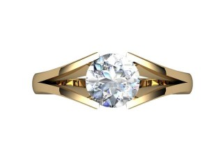 Certificated Round Diamond Solitaire Engagement Ring in 18ct. Yellow Gold - 9