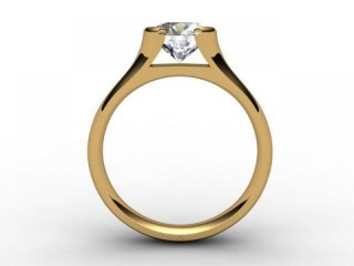 Certificated Round Diamond Solitaire Engagement Ring in 18ct. Yellow Gold - 3