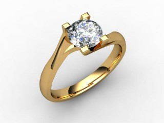 Certificated Round Diamond Solitaire Engagement Ring in 18ct. Yellow Gold - 12