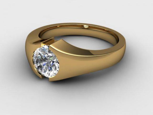 Certificated Round Diamond Solitaire Engagement Ring in 18ct. Yellow Gold