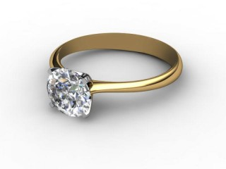 Certificated Round Diamond Solitaire Engagement Ring in 18ct. Gold-01-2800-0001