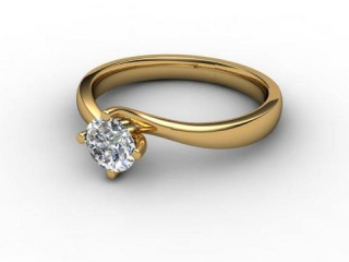 Certificated Round Diamond Solitaire Engagement Ring in 18ct. Gold-01-2800-2231