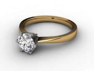 Certificated Round Diamond Solitaire Engagement Ring in 18ct. Gold-01-2800-2240