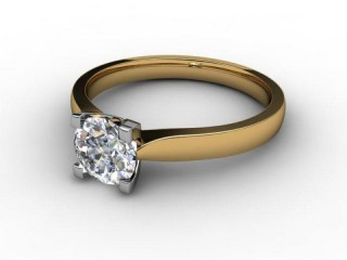 Certificated Round Diamond Solitaire Engagement Ring in 18ct. Gold-01-2800-2293