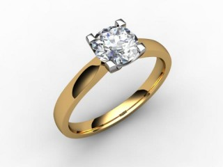 Certificated Round Diamond Solitaire Engagement Ring in 18ct. Gold - 15