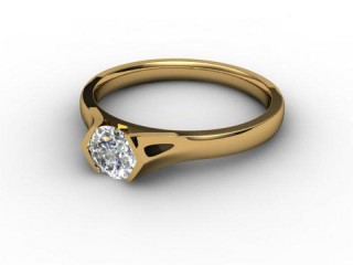 Certificated Round Diamond Solitaire Engagement Ring in 18ct. Gold-01-2800-2958