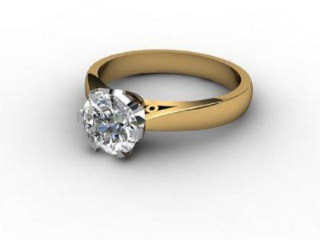 Certificated Round Diamond Solitaire Engagement Ring in 18ct. Gold-01-2800-2969