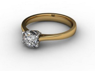 Certificated Round Diamond Solitaire Engagement Ring in 18ct. Gold-01-2800-2970
