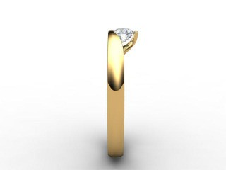 Certificated Round Diamond Solitaire Engagement Ring in 18ct. Gold - 6