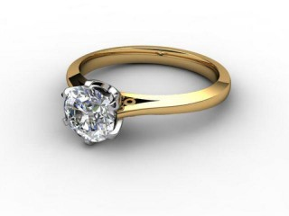 Certificated Round Diamond Solitaire Engagement Ring in 18ct. Gold-01-2800-6006