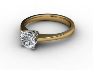 Certificated Round Diamond Solitaire Engagement Ring in 18ct. Gold-01-2800-6019