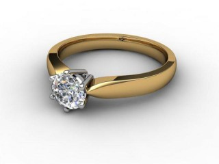 Certificated Round Diamond Solitaire Engagement Ring in 18ct. Gold-01-2800-6029