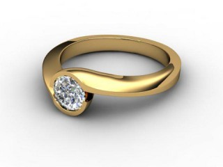 Certificated Round Diamond Solitaire Engagement Ring in 18ct. Gold-01-2800-6033