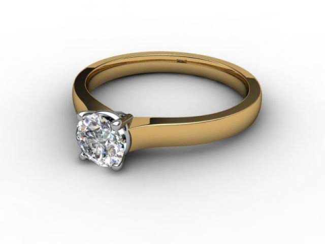 Certificated Round Diamond Solitaire Engagement Ring in 18ct. Gold - Main Picture
