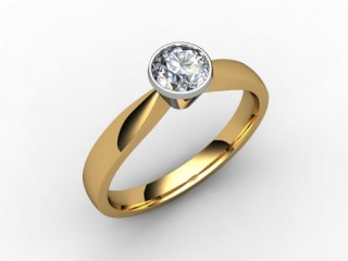 Certificated Round Diamond Solitaire Engagement Ring in 18ct. Gold - 12