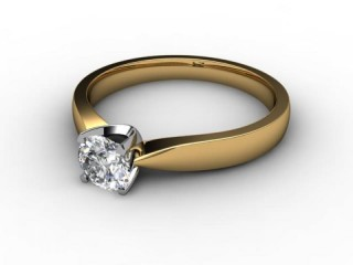 Certificated Round Diamond Solitaire Engagement Ring in 18ct. Gold-01-2800-6155