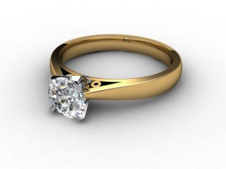 Certificated Round Diamond Solitaire Engagement Ring in 18ct. Gold-01-2800-6158