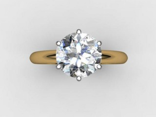Certificated Round Diamond Solitaire Engagement Ring in 18ct. Gold - 9