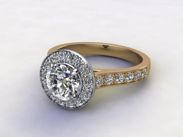 Certificated Round Diamond in 18ct. Gold