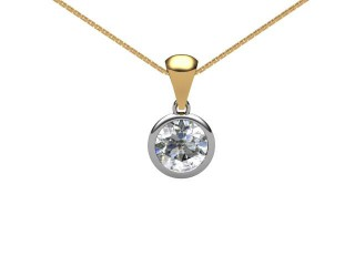 Certified Round Diamond Pendant-01-28001