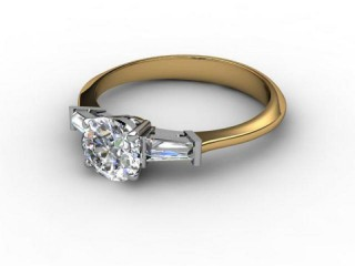 Certificated Round Diamond in 18ct. Gold-01-2802-3043
