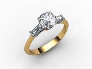 Certificated Round Diamond in 18ct. Gold - 15