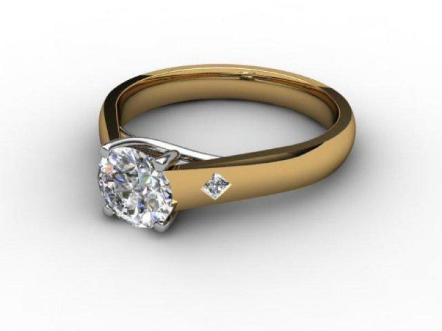 Certificated Round Diamond in 18ct. Gold - Main Picture