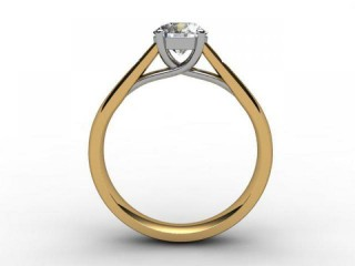Certificated Round Diamond in 18ct. Gold - 3