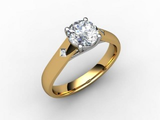 Certificated Round Diamond in 18ct. Gold - 12