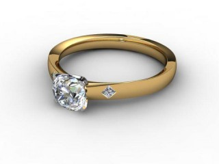 Certificated Round Diamond in 18ct. Gold-01-2802-6151