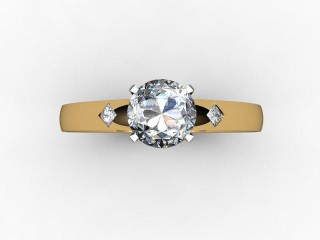 Certificated Round Diamond in 18ct. Gold - 9