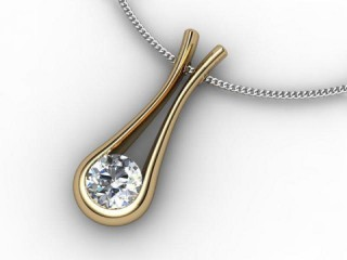 Designer Pendant,  18ct Yellow & White Gold - Round-01-28134