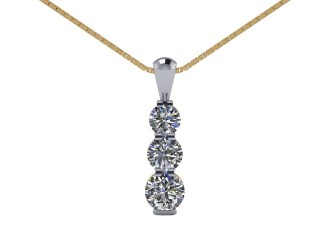 Designer Diamond Pendant and Chain,  18ct. Yellow & White Gold-01-28142