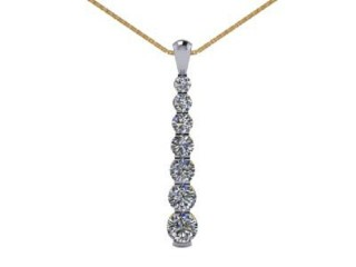 Designer Diamond Pendant and Chain,  18ct. Yellow & White Gold-01-28143