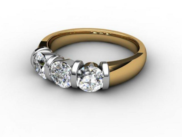Trilogy 18ct. Yellow Gold Round Brilliant-Cut Diamond