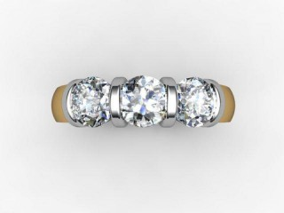 Trilogy 18ct. Yellow Gold Round Brilliant-Cut Diamond - 12
