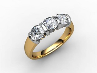 Trilogy 18ct. Yellow Gold Round Brilliant-Cut Diamond - 15