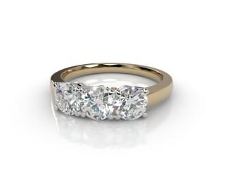 Trilogy 18ct. Yellow Gold Round Brilliant-Cut Diamond-01-2833-1003