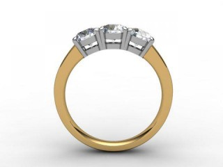 Trilogy 18ct. Yellow Gold Round Brilliant-Cut Diamond - 6
