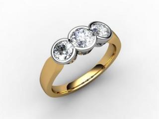 Trilogy 18ct. Yellow Gold Round Brilliant-Cut Diamond - 15