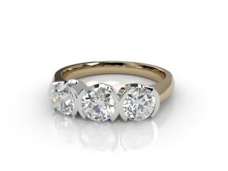 Trilogy 18ct. Yellow Gold Round Brilliant-Cut Diamond-01-2833-1014