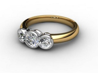Trilogy 18ct. Yellow Gold Round Brilliant-Cut Diamond-01-2833-1019