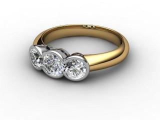 Trilogy 18ct. Yellow Gold Round Brilliant-Cut Diamond-01-2833-1020