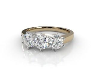 Trilogy 18ct. Yellow Gold Round Brilliant-Cut Diamond-01-2833-1022