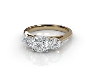 Trilogy 18ct. Yellow Gold Round Brilliant-Cut Diamond-01-2833-2300