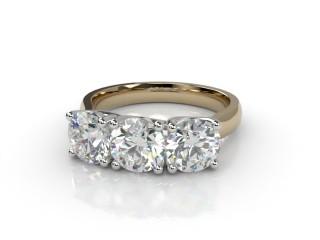 Trilogy 18ct. Yellow Gold Round Brilliant-Cut Diamond