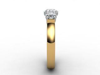 Trilogy 18ct. Yellow Gold Round Brilliant-Cut Diamond - 9