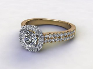 Certificated Round Diamond in 18ct. Gold-01-2854-8955